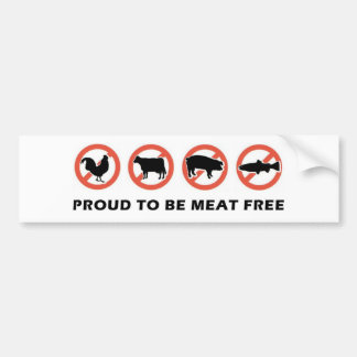 Proud to Be Meat Free Bumper Sticker