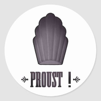 Proust ! round sticker
