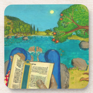 Psalm 1 in Hebrew Bible Jewish Christian Paintings Coaster