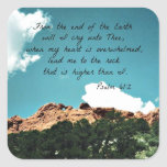 Psalm 61:2 From the end of the Earth... Square Sticker