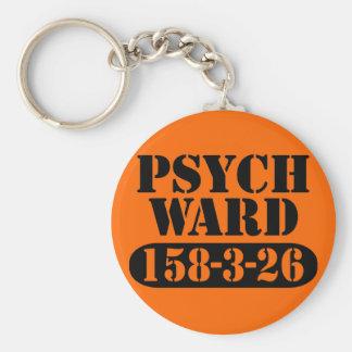 Psych Ward Basic Round Button Key Ring
