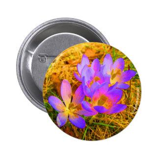 Psychedelic Crocus 6 Cm Round Badge