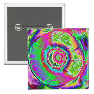 Psychedelic Painting 15 Cm Square Badge