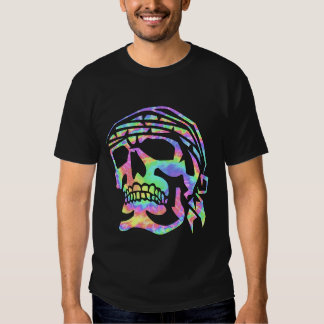Psychedelic skull Psycho Skull Tee Shirt