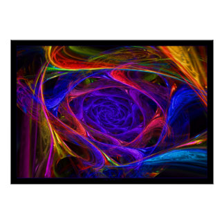 Psychedelic Spirals Poster
