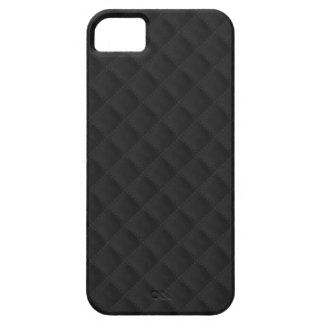 Puffy Stitched Black Quilted Leather iPhone 5 Cover