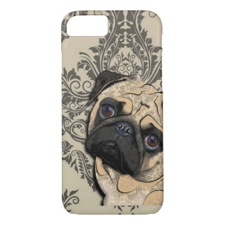 Pug Dog Abstract Pet Pattern iPhone 7 Case