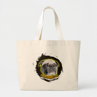pug off jumbo tote bag