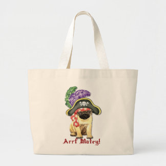 Pug Pirate Jumbo Tote Bag