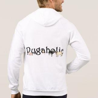 Pugaholic Men's Zip Hoodie