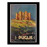 Puglie, Italy Castel del Monte Vintage Travel Postcard