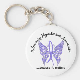 Pulmonary Hypertension Butterfly 6.1 Basic Round Button Key Ring