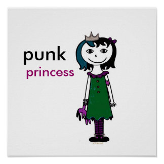 Punk Princess (black hair) Poster