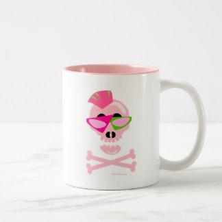 Punky New Wave Skull Two-Tone Mug