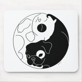 Puppy and Kitten Ying Yang Mouse Pad