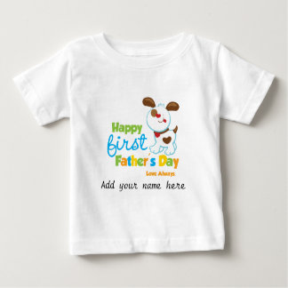 Puppy Dog Happy First Father's Day Shirts