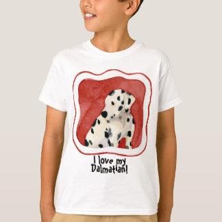 """Puppy Love,"" Dalmatian Puppy Art by Audrey Jeanne T Shirt"