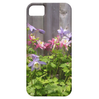 Purple and Pink Columbines iPhone 5 Case