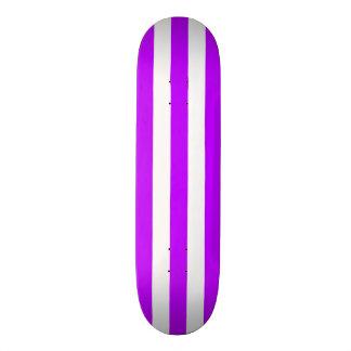 Purple and white Stripe Skateboard Deck