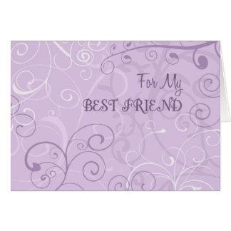 Purple Best Friend Maid of Honor Invitation Card