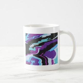 Purple Blue Camouflage Basic White Mug