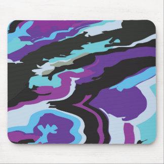 Purple Blue Camouflage Mouse Pad