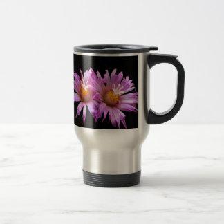 Purple Cactus Flowers Stainless Steel Travel Mug