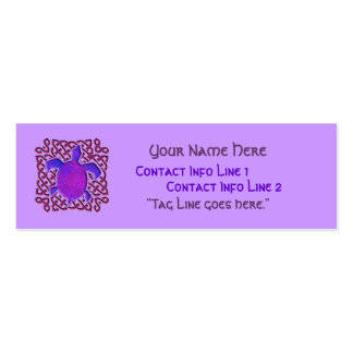 Purple Celtic Knot Turtle Profile Card Pack Of Skinny Business Cards