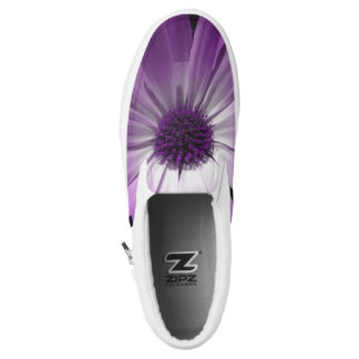 Purple Daisy Flower Slip on Shoes Printed Shoes