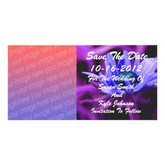 Purple Daisy Photo Wedding Save The Date Photo Card