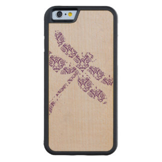 Purple Damask Dragonfly Wedding Maple iPhone 6 Bumper Case