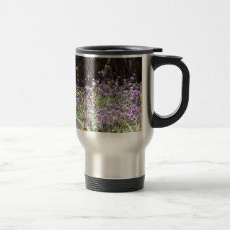 Purple Desert Flowers Stainless Steel Travel Mug