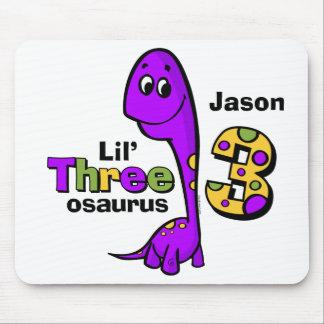 Purple Dinosaur 3rd Birthday Mouse Pad