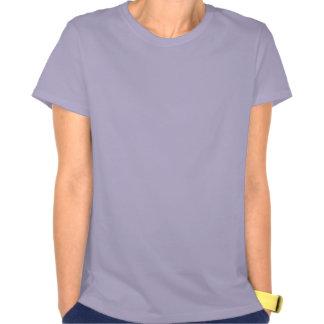 Purple Feather Fringe Fractal Art T-shirt