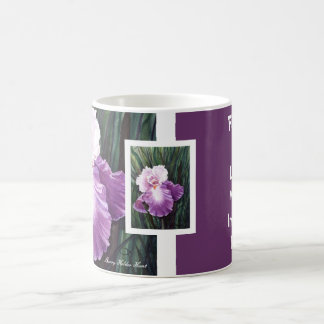 Purple Iris Friendship Mug