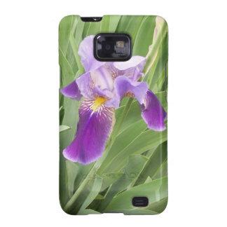 Purple Iris Galaxy SII Covers