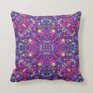 Purple Mandala Hippie Pattern Throw Cushion