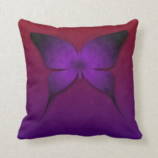 Purple Ombre Butterfly Pillow Cushion