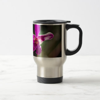 Purple Orchid Flower Stainless Steel Travel Mug