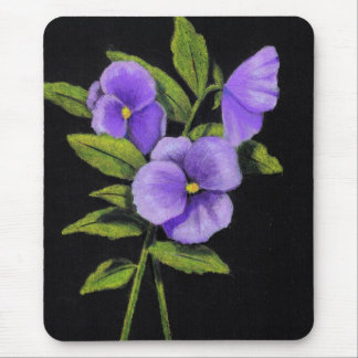Purple Pansies: Violas Mouse Pad