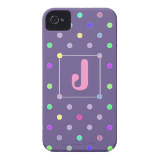 Purple Polka-dot iphone4/4s Id case