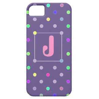Purple Polka-dot iphone4 Id case