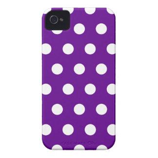 Purple Polka Dot iPhone 4 Case