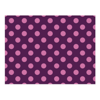 Purple Polka Dots Postcard
