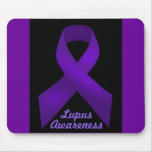 Purple Ribbon Awareness Lupus Mouse Pad