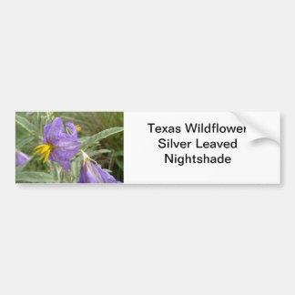 Purple silver-leaved nightshade flowers bumper sticker