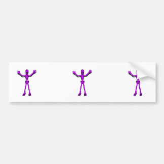 Purple Skeleton Bumper Sticker