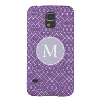 Purple Spiral Monogram Galaxy S5 Cover