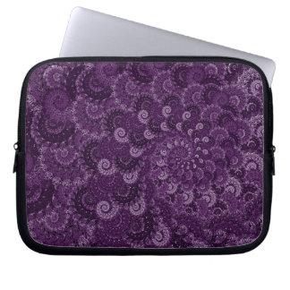 Purple Swirl Fractal Pattern Laptop Sleeves
