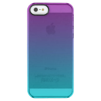 Purple & Teal Ombre Clear iPhone SE/5/5s Case